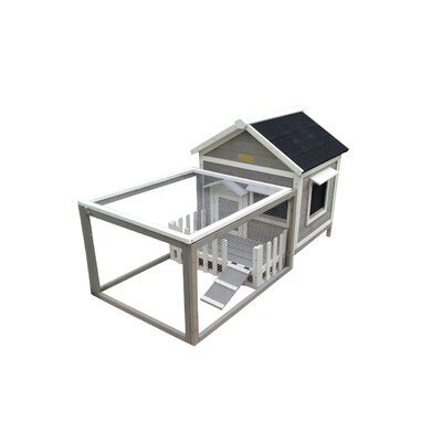 Hector The White Picket Fence Rabbit Hutch Color: Grey