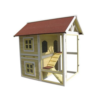 Nobles The Row House Rabbit Hutch Color: Yellow