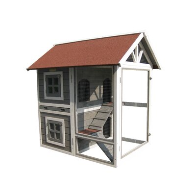 Nobles The Row House Rabbit Hutch Color: Tan