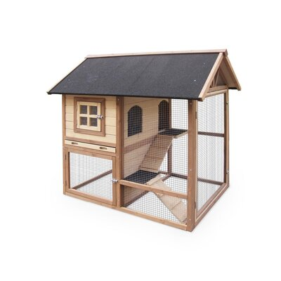 The Row House Rabbit Hutch Color: Grey