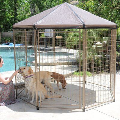 Original Pet Gazebo Yard Kennel Size: 96 H x 96 W x 96 L