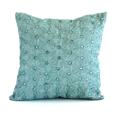 Artisan Origami Jeweled Throw Pillow Color: Cinder