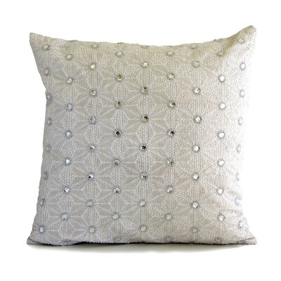 Artisan Origami Jeweled Throw Pillow Color: Clear