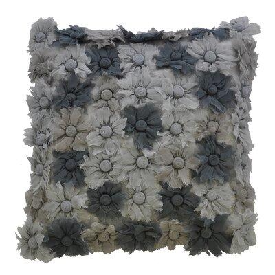 """AV Home Blossom Silk Chiffon Square Pillow - Color: Smolder, Size: 18"""" H x 18"""" W"""