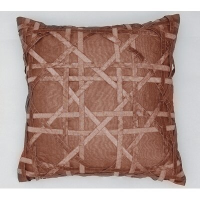 Lattice Silk Dupioni Throw Pillow Color: Chocolate