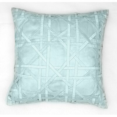 Lattice Silk Dupioni Throw Pillow Color: Powder