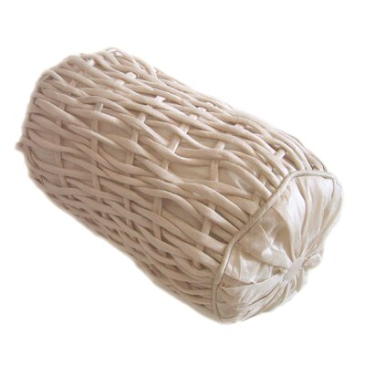 Rope Silk Dupioni Bolster Color: Cr me