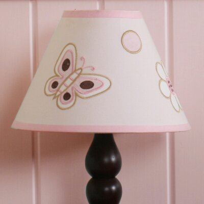 7 Polyester / Cotton Empire Lamp Shade Color: Pink and Brown