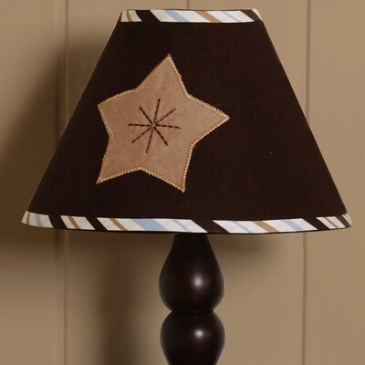 7 Polyester / Cotton Empire Lamp Shade Color: Blue and Brown