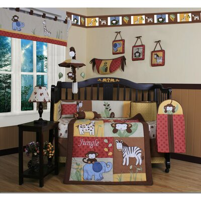 jungle crib set