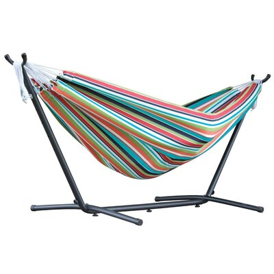 Double Polyester Hammock with Stand Color: Ciao