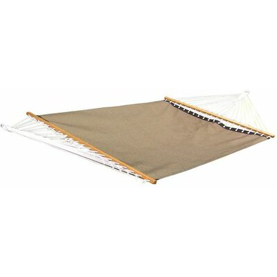 Poolside Two Person PVC-coated polyester Camping Hammock Color: Taupe