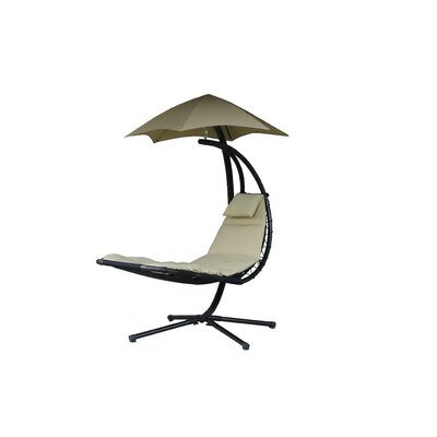 Original Dream Polyester Hanging Chaise Lounger with Stand Color: Sand Dune