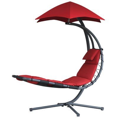The Original Dream Chaise Lounge with Cushion Color: Cherry Red