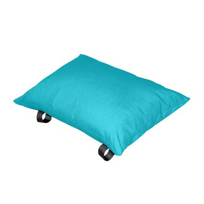 Throw Pillow Color: True Turquoise