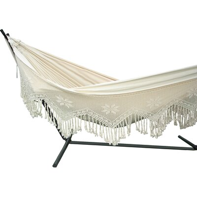 Brazilian Two Person Deluxe Cotton Tree Hammock