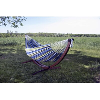 Cotton Hammock with Stand Color: Oasis