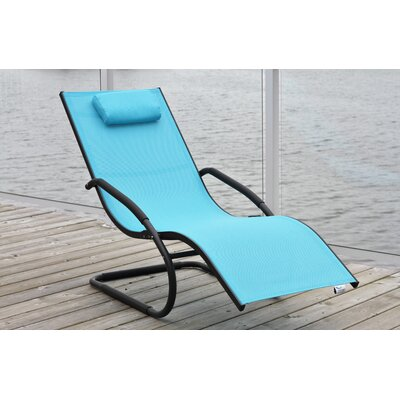 Wave Chaise Lounge Fabric: Sky Blue