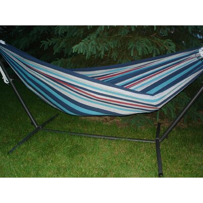 Brazilian Single Cotton Camping Hammock Color: Denim, Size: Double