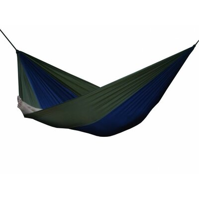 Parachute Nylon Single Camping Hammock Color: Navy/Olive, Size: Double