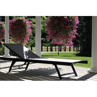 Urban Sun Chaise Lounge Fabric: Black Chrome