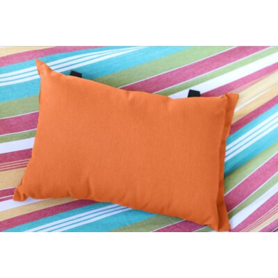 Throw Pillow Color: Orange Zest