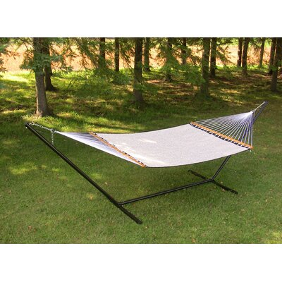 Poolside Two Person PVC-coated polyester Camping Hammock Color: Beige