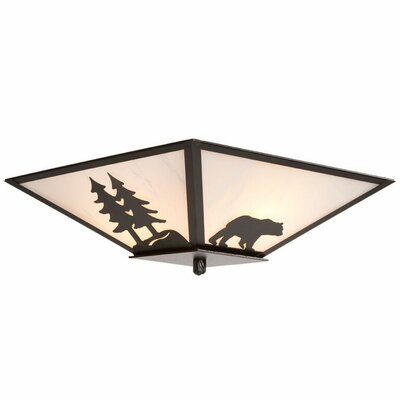 Bear 2-Light Flush Mount
