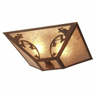Bavarian Moose 2-Light Flush Mount