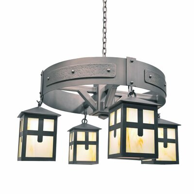 Mckinley 4-Light Shaded Chandelier
