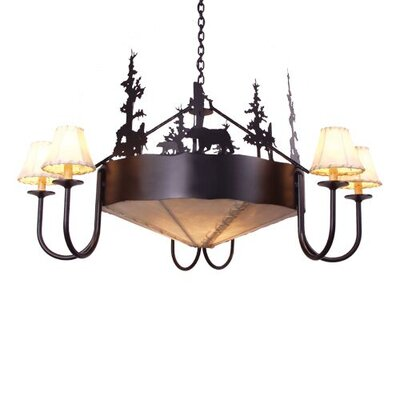 Bear 9-Light Shaded Chandelier