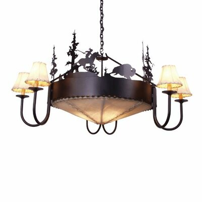 Buffalo 9-Light Shaded Chandelier