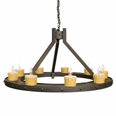 Rivets 9-Light Candle-Style Chandelier