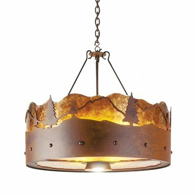Timber Ridge 3-Light Drum Pendant