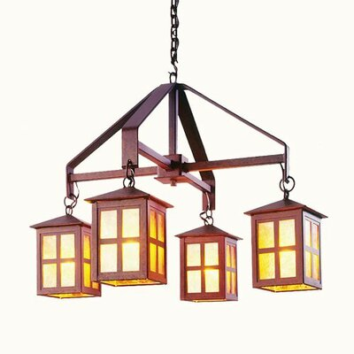 Old Faithful 4-Light Shaded Chandelier Size: 28 H x 42 W x 42 D