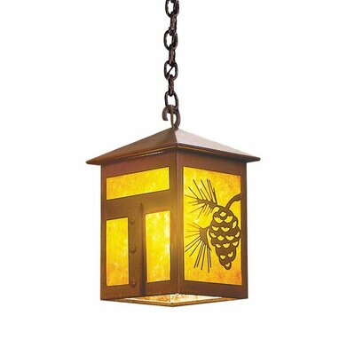 Mission 1-Light Mini Pendant Size: 8 H x 6 W x 6 D