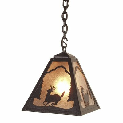 Timber Ridge Deer 1-Light Mini Pendant