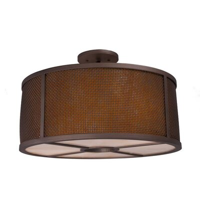 Whidbey 3-Light Semi Flush Mount