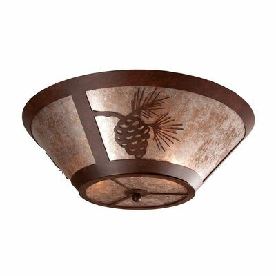 Pinecone 2-Light Flush Mount