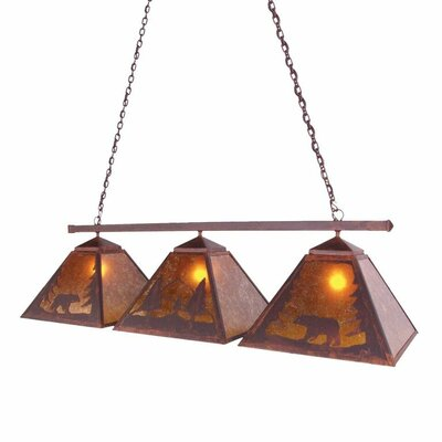 Timber Ridge Bear 3-Light Kitchen Island Pendant