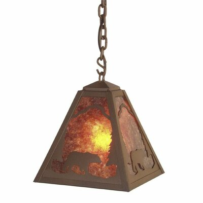 Timber Ridge Bear 1-Light Mini Pendant