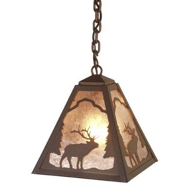 Timber Ridge Elk 1-Light Mini Pendant