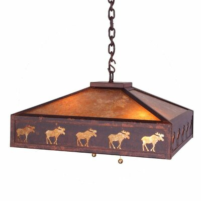 Meadow Band of Moose 2-Light Pendant