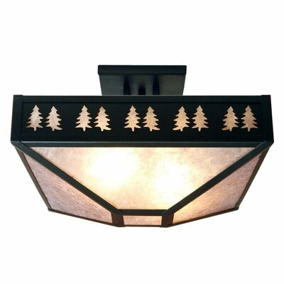 Band of Trees 4-Light Semi Flush Mount