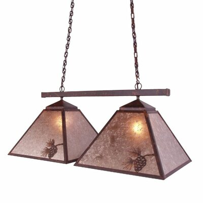 Pinecone 2-Light Kitchen Island Pendant