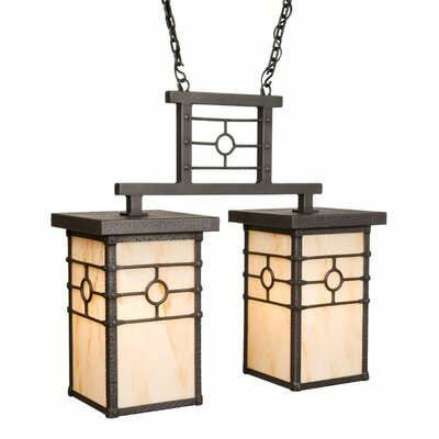 Historic California 2-Light Kitchen Island Pendant