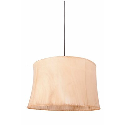 1-Light Drum Pendant Size: 9.25 H x 13 W x 13 D