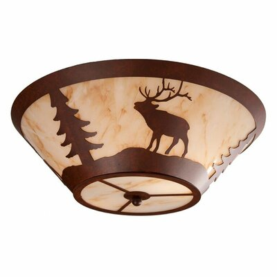 Elk 2-Light Flush Mount