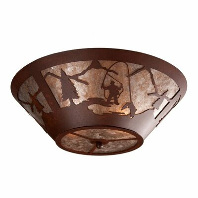 Fly Fisherman 2-Light Flush Mount
