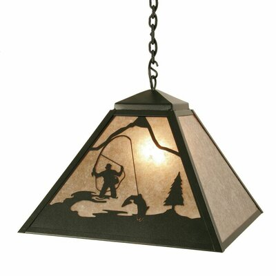 Fly Fisherman 1-Light Pendant